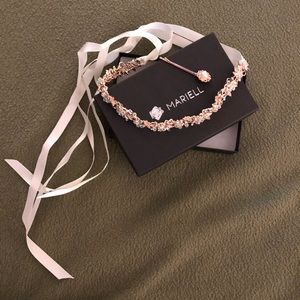 MARIELL / Bridal Headband with Hand-wired Crystal